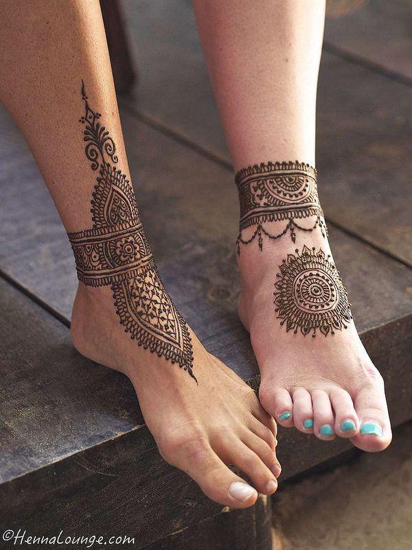Henna Tattoo On Foot Designs: Kınalar, Mehndi Designs Ve Dövme