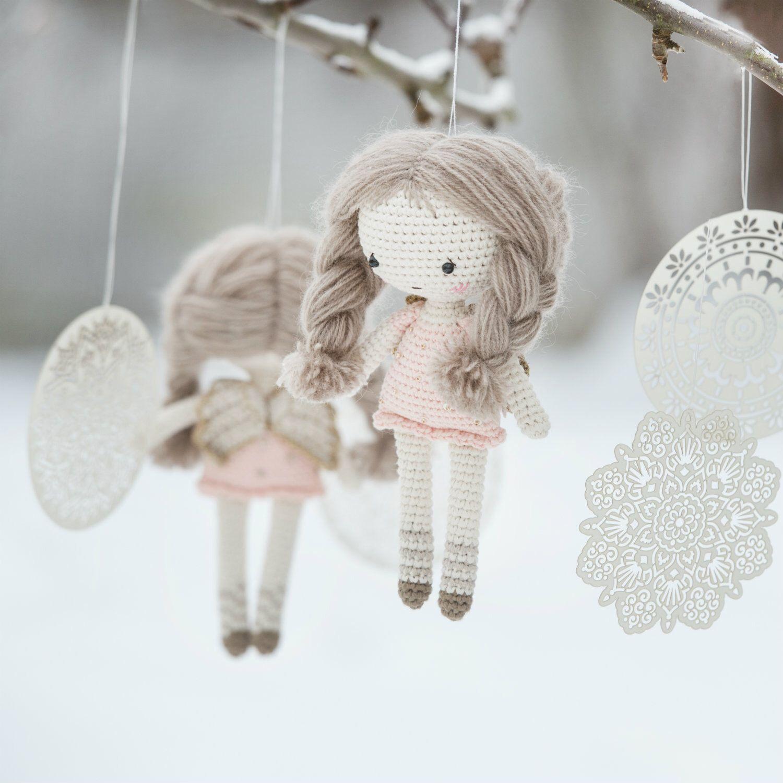 PATRÓN - pequeña muñeca angel - ganchillo patrón, patrón de ...