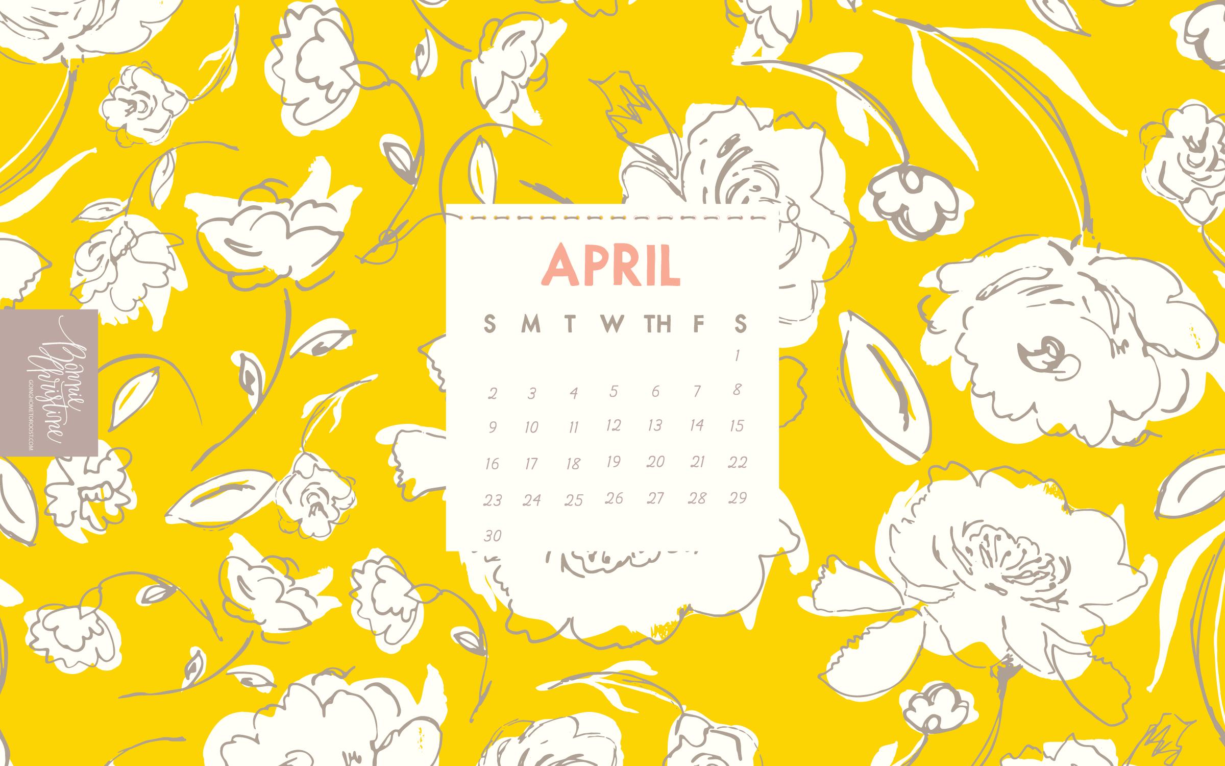 Floral April 2019 Desktop Calendar Wallpaper Calendar Wallpaper Desktop Wallpaper Calendar Desktop Calendar