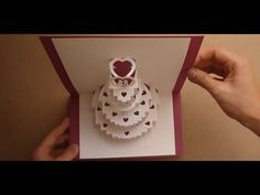 How To Make A Amazing Wedding Cake Pop Up Card Tutorial Card Tutorial Pop Up Cards Paper Crafts Cards