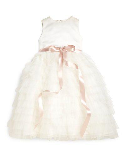 Joan Calabrese Little Girl S Ruffled Tulle Dress Saks Com