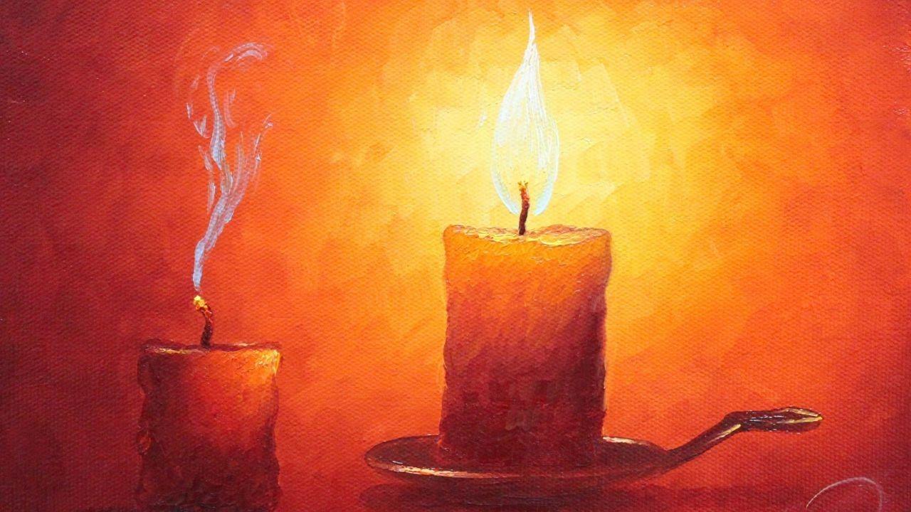 Ölmalerei Anleitung Kerzenlicht Von Herdin Radtke