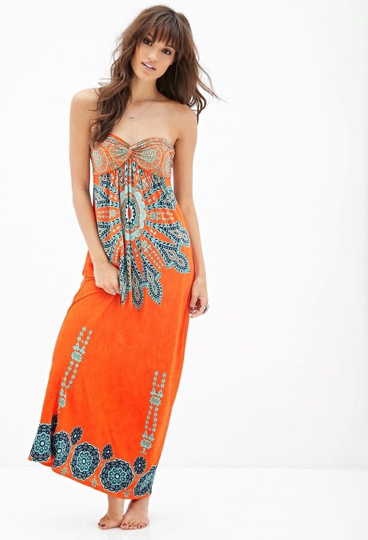 Modelos de vestidos estampados casuales