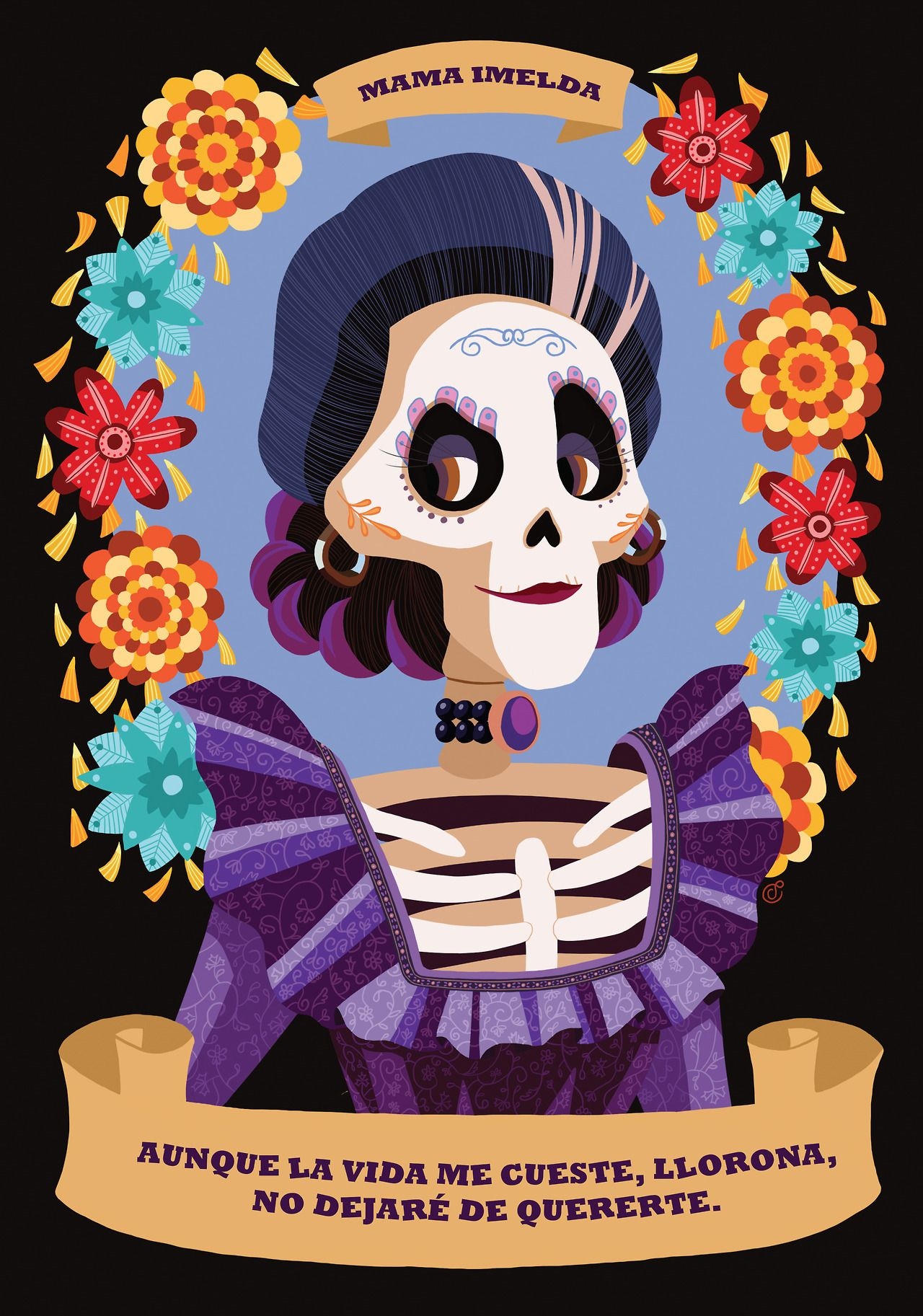 Moyo A Coco Tribute I Made Some Days Ago Hope You Ll Disney Art Coco Halloween Door Decorations