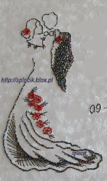 haft matematyczny na kartkę śłubną