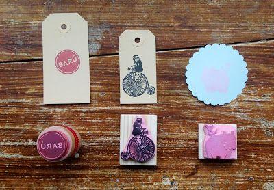 S a l u t S t e f a n i e: Stamps I Made for BARU, a very nice Belgian Chocolate & Marshmellows Brand