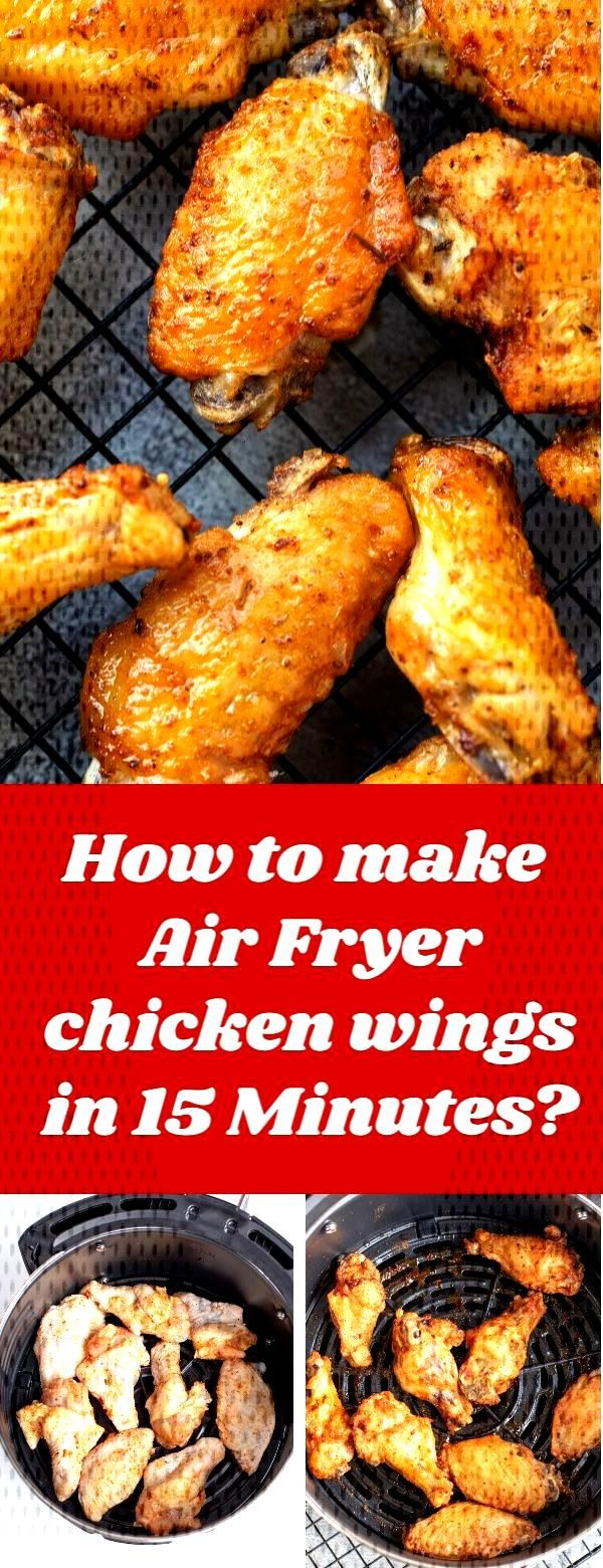 Just in 15 minutes you get Air Fryer Chicken Wings! They will be the best chicken wings you will ev