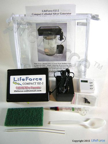 LifeForce compact colloidal silver generators, 9999 silver wire and colloidal silver information, Made in the USA