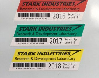 Replica Stark Expo Lanyard Badges From Marvels Iron Man Movies 4 X 6 ID Badge With Colored That Matches The Type Of