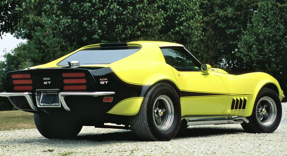 1973 CHEVROLET CORVETTE Yellow Sports Car Vintage Look REPLICA METAL SIGN