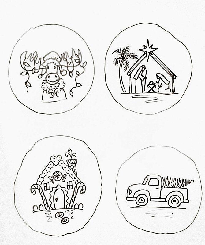 Image Result For Simple Winter Wonderland Scene Wood Christmas Ornaments Wood Slice Ornament Diy Christmas Ornaments