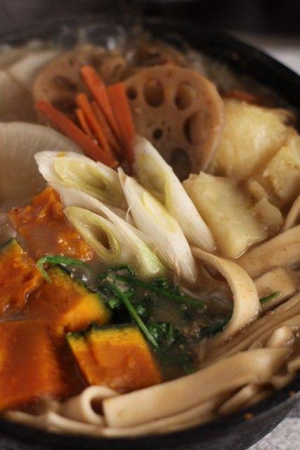 Houtou hot pot. Home made noodles, healthy food.