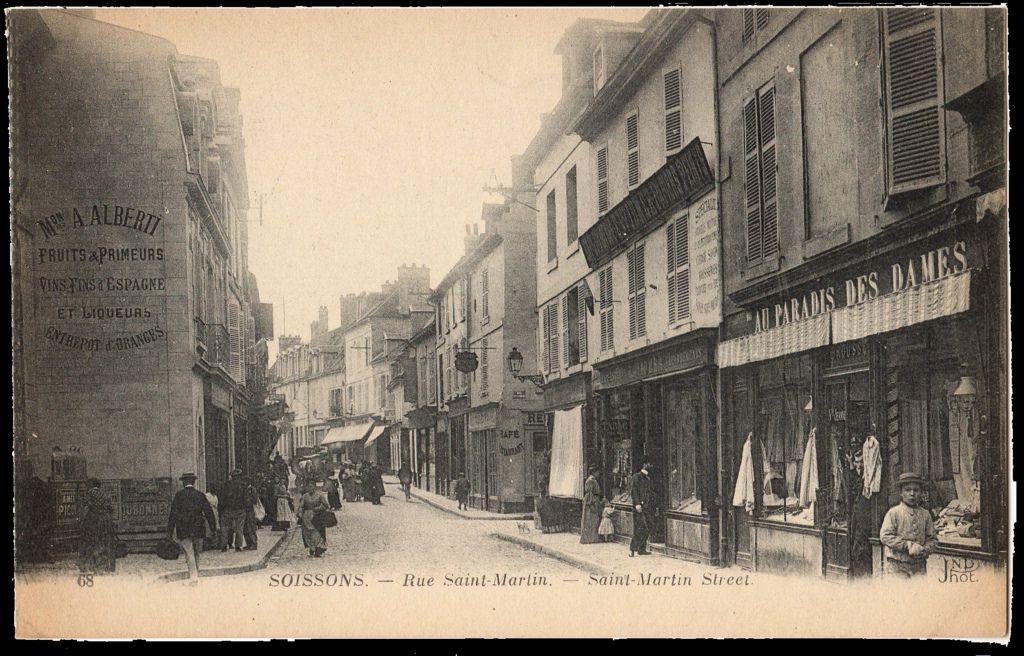 postcardsoissonsfrance Vintage, Street view, France