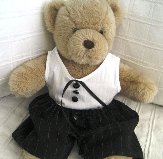 Teddy Bear Clothes Tyson Vest Style Shirt & Pants by CreatedbyLA, $25.00