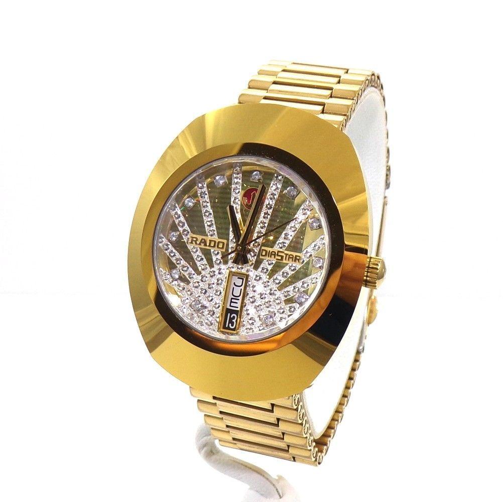 dc863c92e3a41 RADO Diastar Men's Watch Gold Dial Stainless Steel Scratch Proof Swiss QXG59