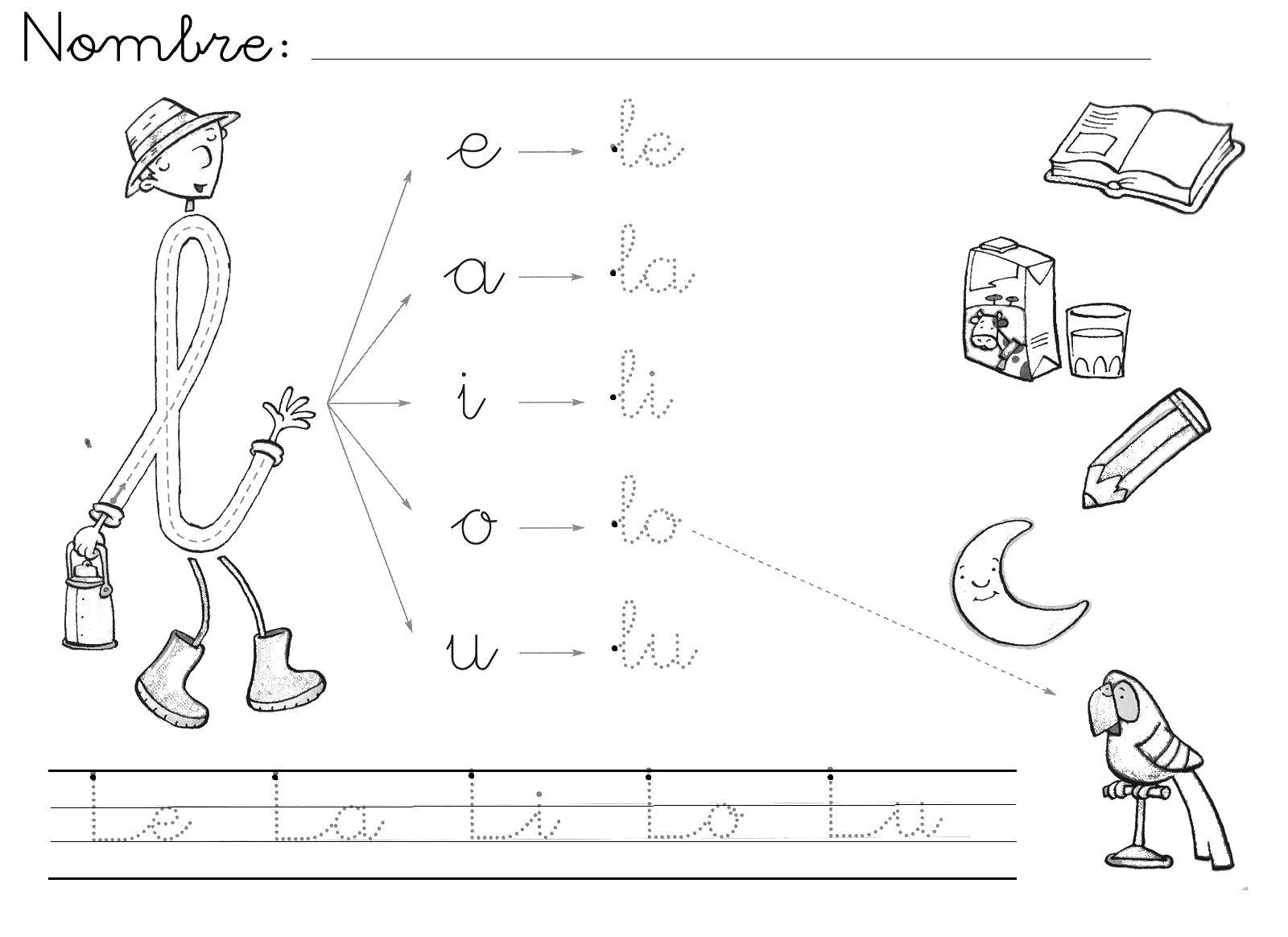 Mi Mundo Infantil Grafia De La L