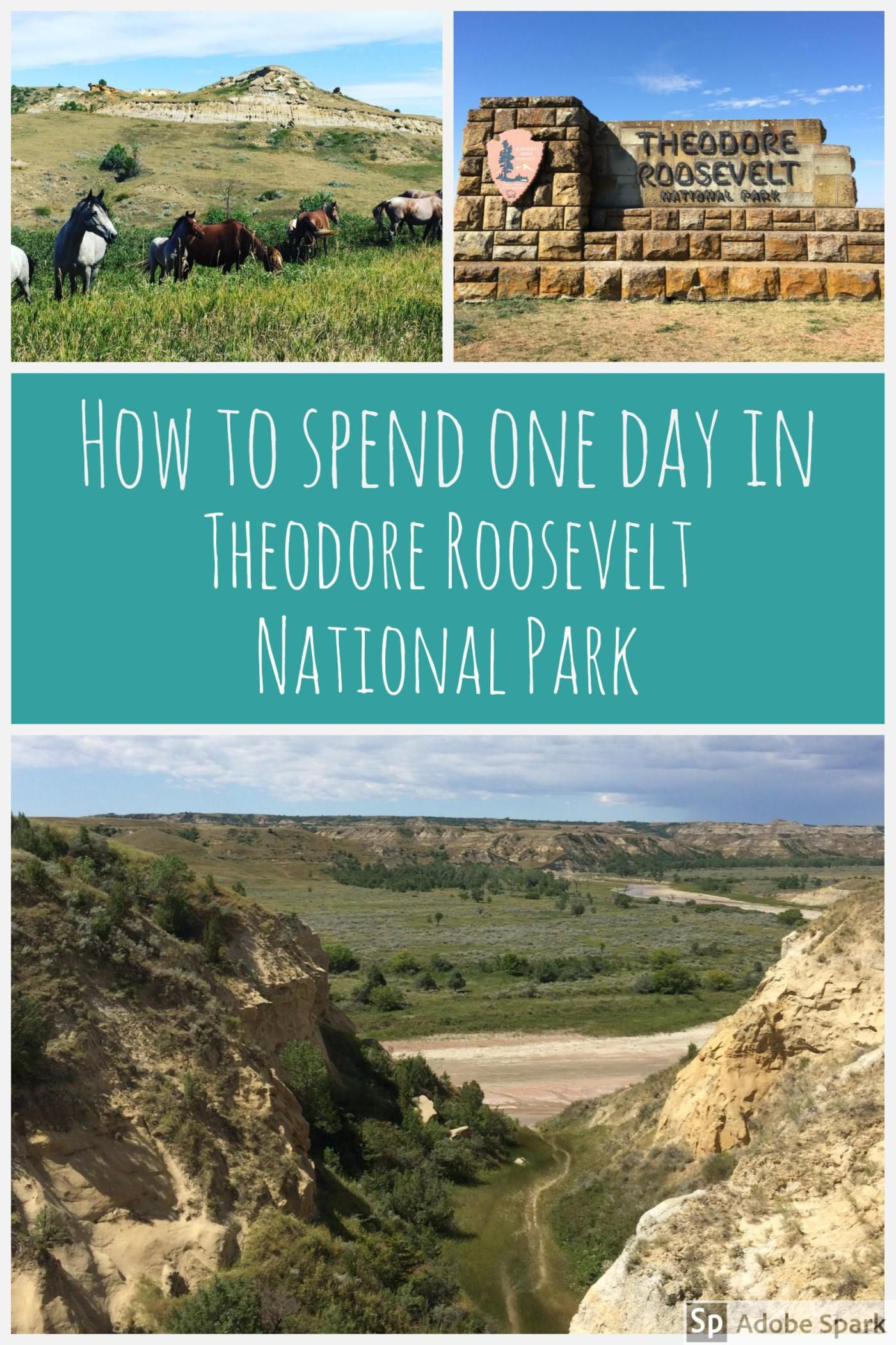 a one day itinerary for theodore roosevelt national park