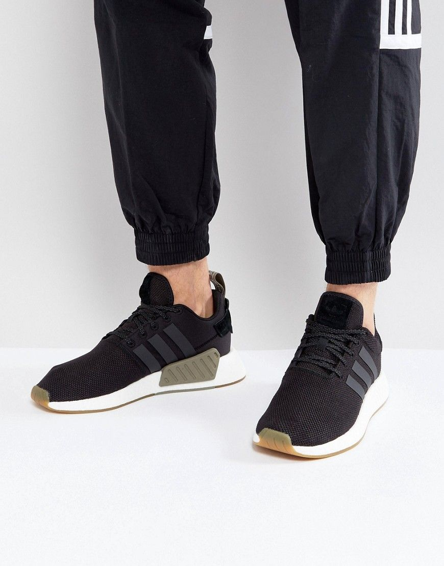 new style 9195b 61354 adidas Originals NMD R2 Sneakers In Black BY9917 - Black