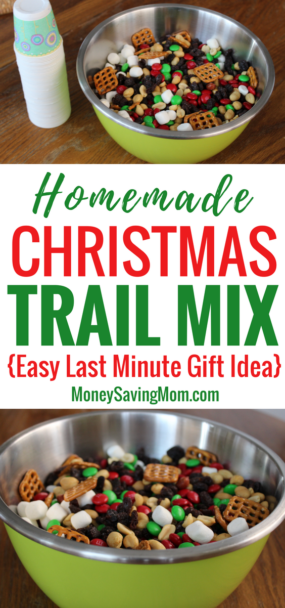 Christmas Trail Mix (last-minute gift idea