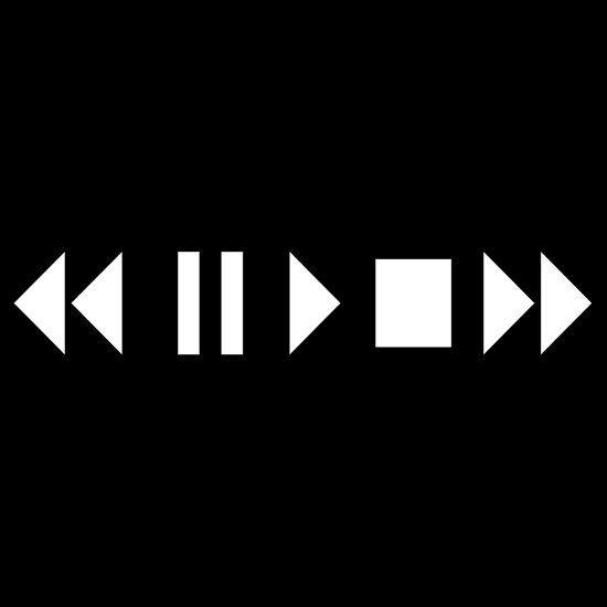 Play Pause Stop Fast Forward Reverse Essential T Shirt By David Ayala Geometric Poster Design Dark Black Wallpaper Clueless Aesthetic