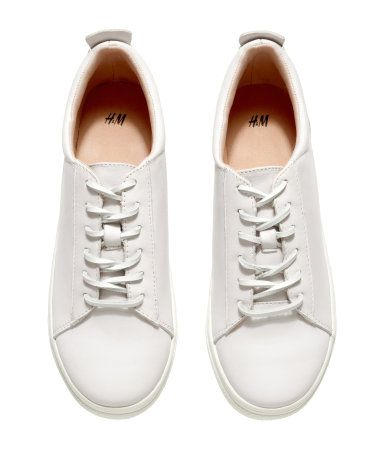 H\u0026M Leather Sneakers $59.95 | Leather