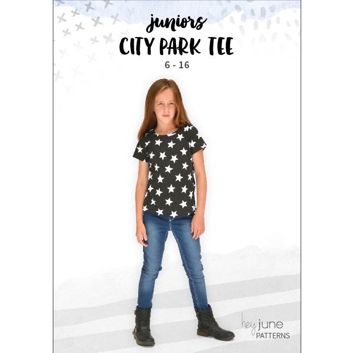 b2278f7320ab The City Park Tee sewing pattern for juniors in sizes 6 - 16. A wardrobe · Hey  JuneKids ...