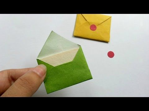How To Make Tiny Envelope And A Card Tutorial Youtube Mini Envelopes Diy Diy Envelope Tiny Envelopes Diy