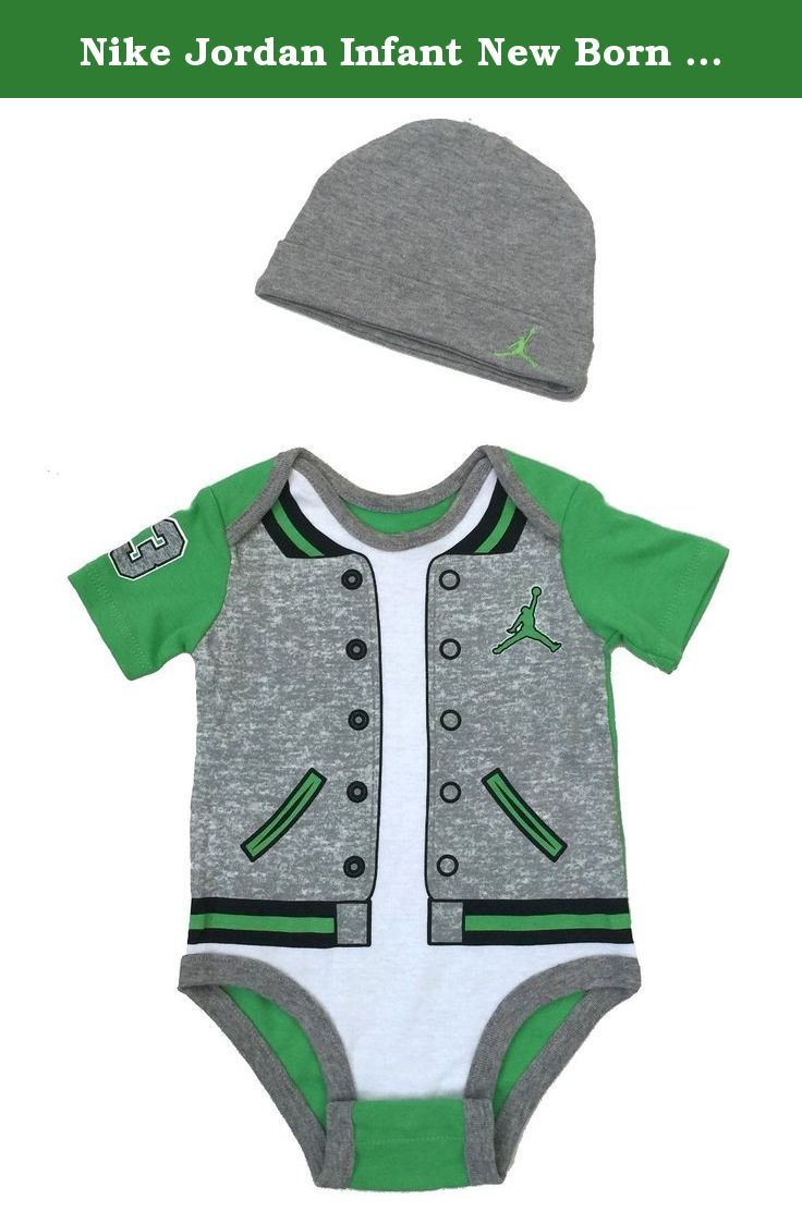 Nike Jordan Infant New Born Baby Bodysuit and Cap 2 Pcs Layette Set (0-