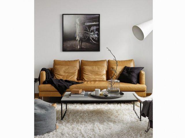 Canape Cuir Camel Salon Pinterest Canapé Cuir Canapés Et Cuir - Formation decorateur interieur avec canapé cuir brun