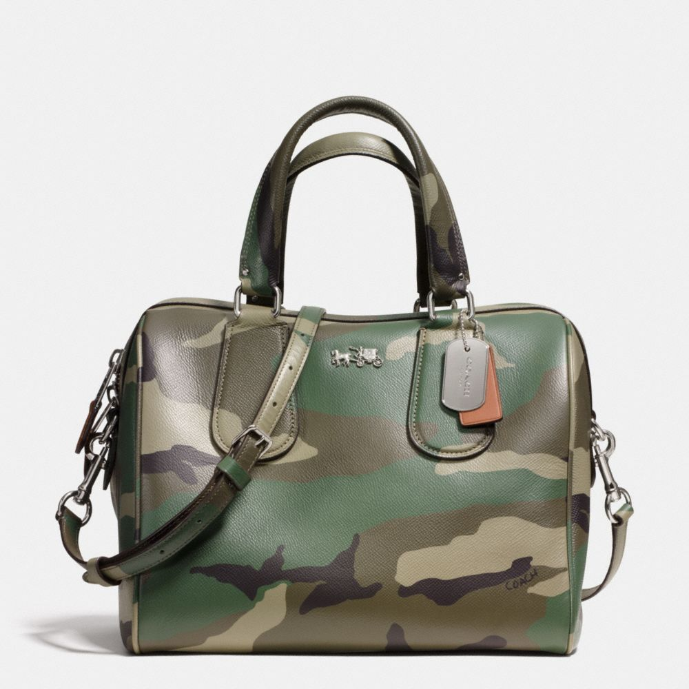 This bag is EVERYTHING!!!!! The Surrey Satchel In Camo Print Crossgrain  Leather from Coach fc45ba9542465