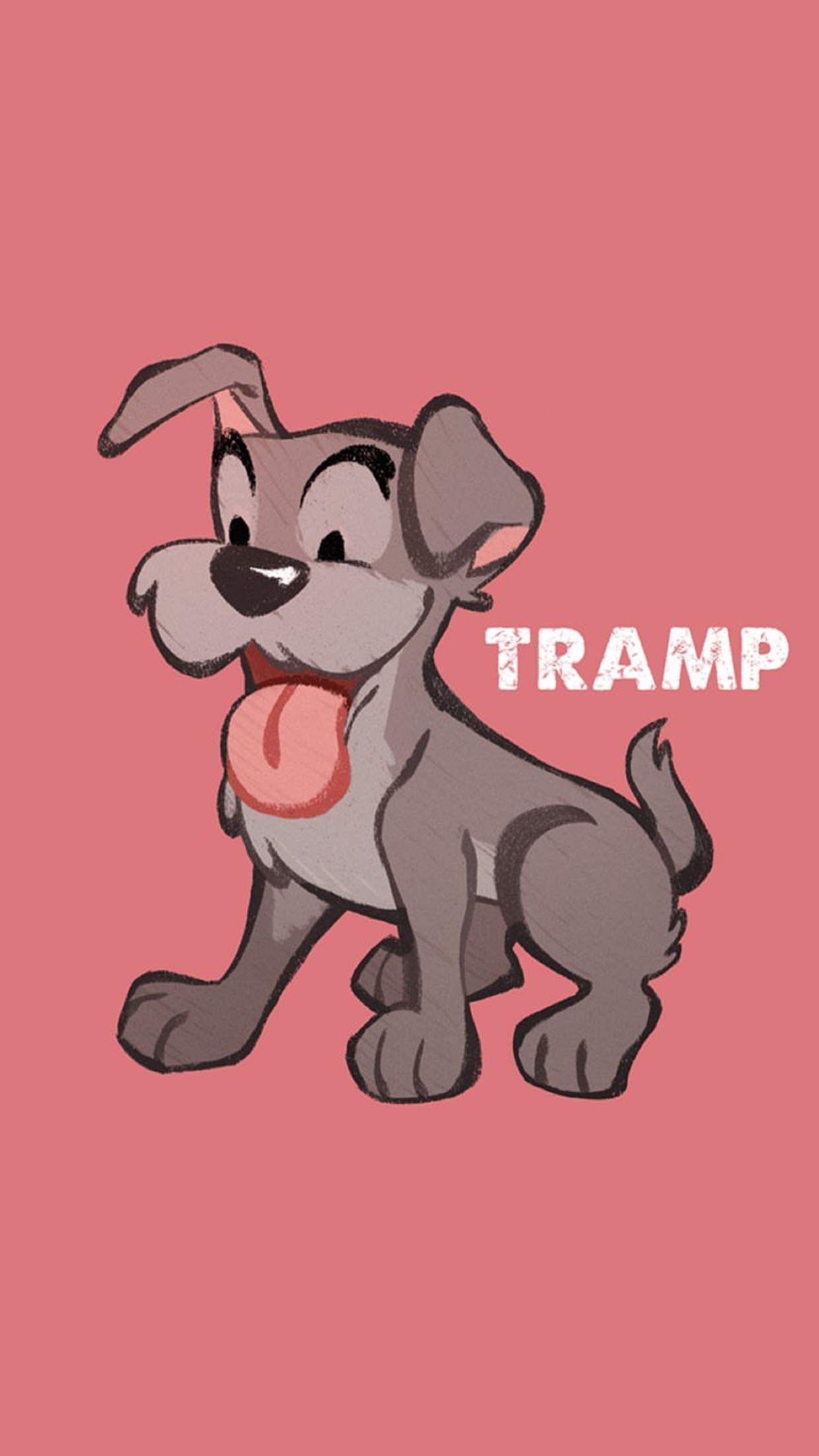 Tramp From Disney S Lady And The Tramp Dog Puppy Terrier Mix Breed Lock Screen Background Wallpaper For Android Cell Disney Friends Disney Love Disney Fun
