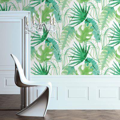 Papel de parede jungle verde leroy merlin sala joana - Papel de pared leroy merlin ...