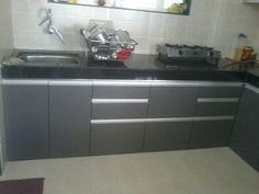 L Shaped Modular Kitchen Profile Handles L Shaped Modular Kitchen Kitchen Furniture Kitchen Interior