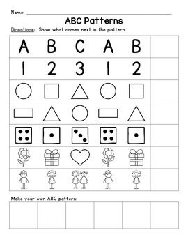 Abc Patterns Ab Patterns Abc Patterns Pattern Worksheet