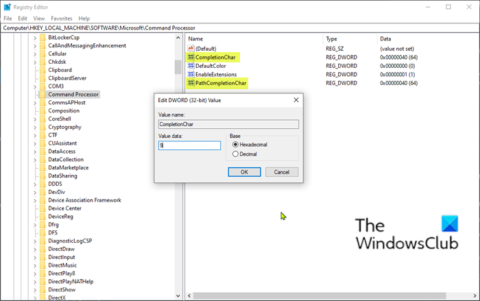TAB key not working in Command Prompt in 2020 Tab key