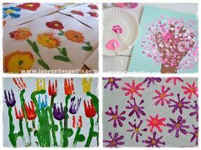 60 bricolages de printemps en fleurs et en couleurs peinture fleurs maternelle et peinture. Black Bedroom Furniture Sets. Home Design Ideas