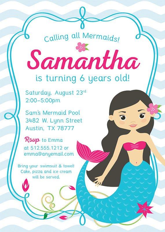 Mermaid Birthday Party Invitation