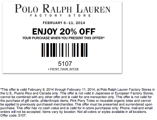 graphic relating to Polo Printable Coupon called Polo Coupon Printable Discount coupons Ralph lauren manufacturing facility retail outlet