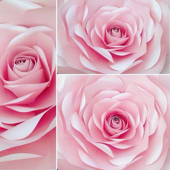 Big Paper Flower Unique Paper Flower Elegant Wall Decoration