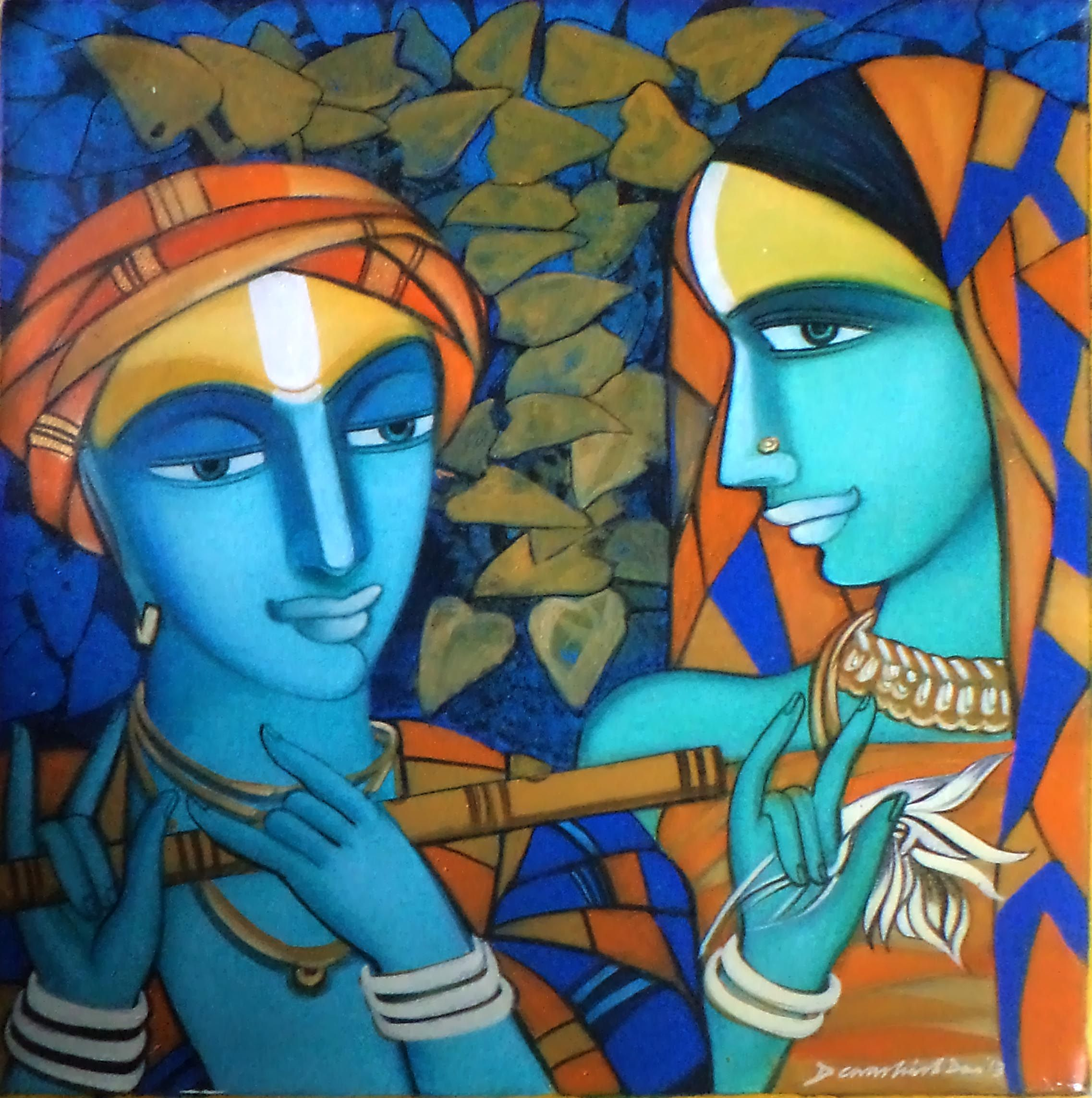 This amazing Acrylic on canvas painting    Composition    is made by the     This amazing Acrylic on canvas painting    Composition    is made by the  renowned Indian artist    Dewashish Das   You can get his art work online at  Indian Art