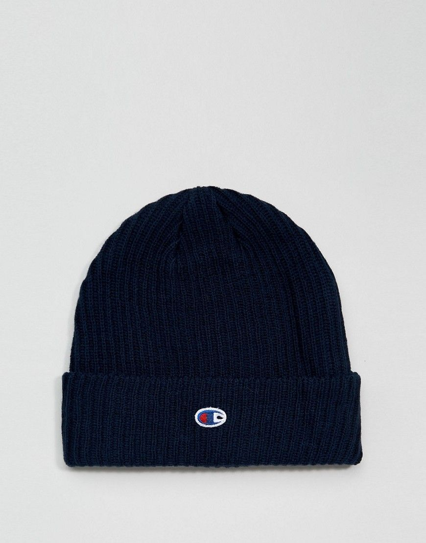 Champion Beanie With Small Logo In Navy - Navy Champion 8681e43a749