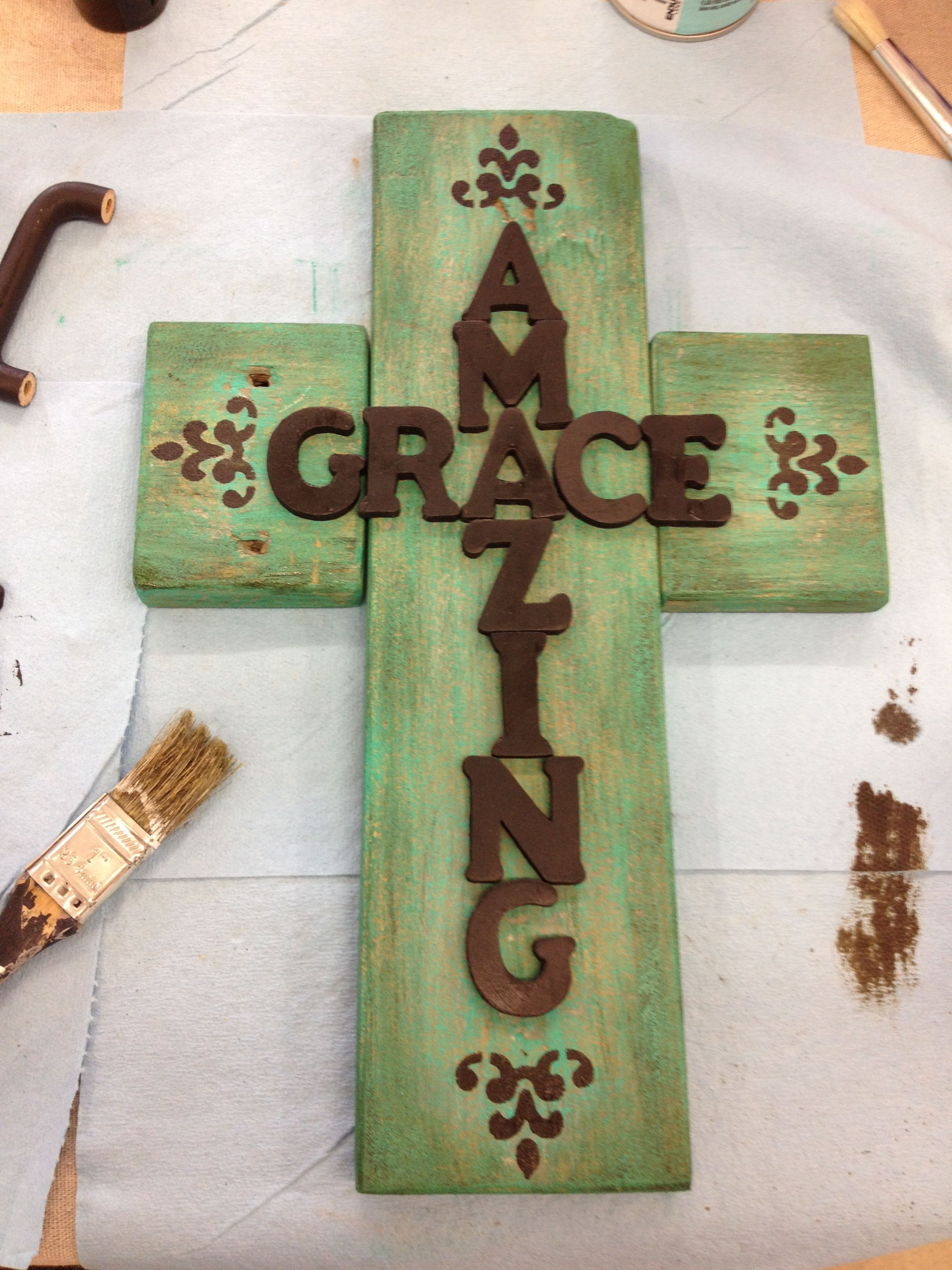 Cross template simple cross image craft ideas pinterest crosses - Amazing Grace Cross Made From Wood Scraps