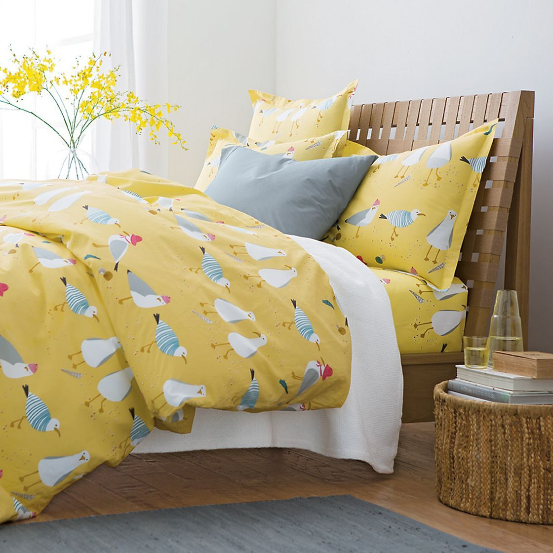 Beach Gull Percale Seagull Duvet Cover The Company Store