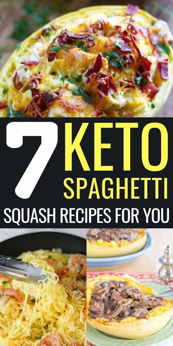 Keto spaghetti squash recipes #health #fitness #nutrition #keto #diet #recipe #HowToKetoDiet