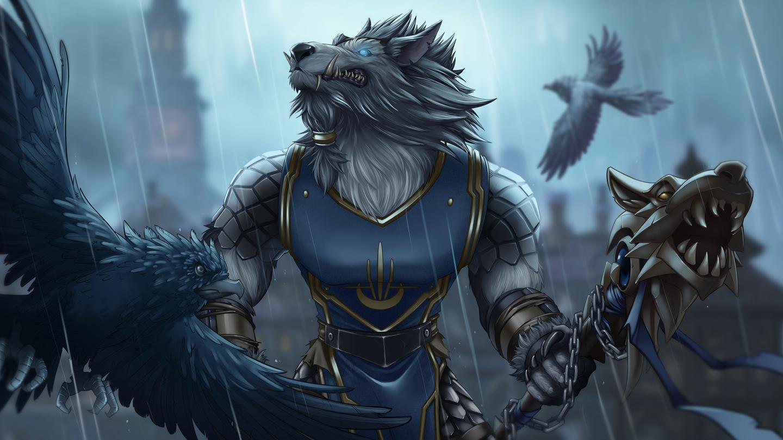 Worgen Hunter Protects His City Worldofwarcraft Blizzard