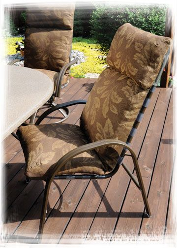 Homecrest S Palisade Cushion High Back Swivel Rocker And Dining Chair While Our Palisade Co Patio Furniture Collection Casual Outdoor Furniture Outdoor Living