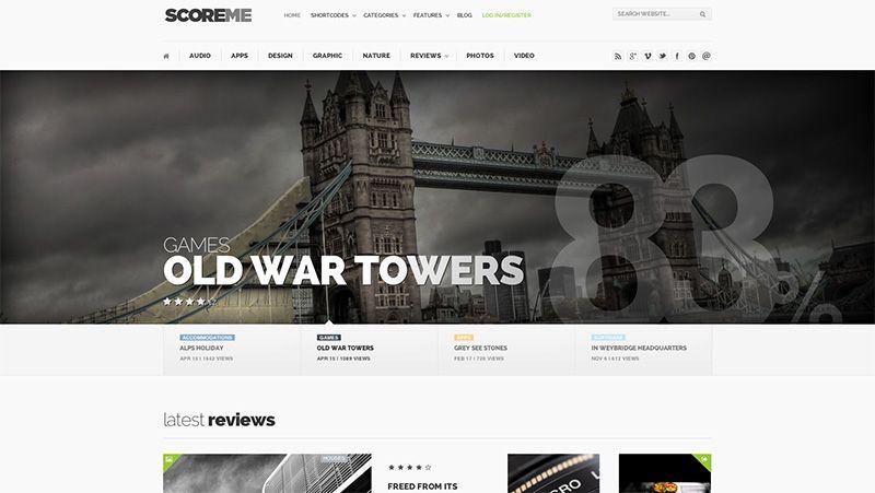 Scoreme - WordPress Magazine Theme - #wordpress #theme #template ...