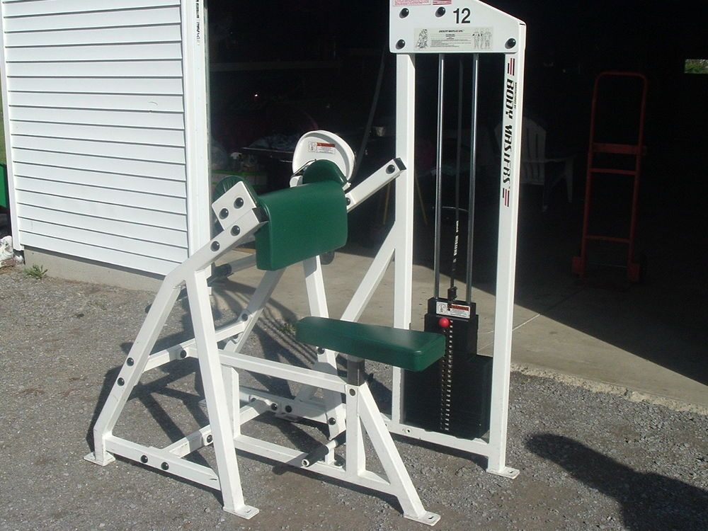 Body Masters 410 Arm Curl Bicep Weight Machine Bench Great Condition