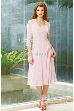 Simple Pink Dresses for Mother of the Bride