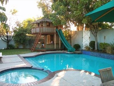 Backyard Pool Slide Google Search